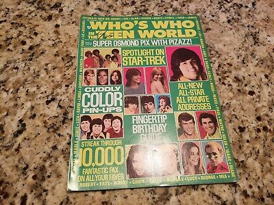 Vintage October 1974 Who's Who In The Teen World Magazine Cassidy/osmond