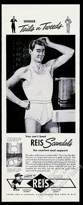 1946 Reis Scandals men's underwear illustrated man vintage print ad
