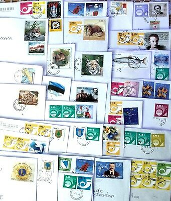 Estonia: 60  Stamps On Letters, Sent January 2018, Some Seldom Stamps!