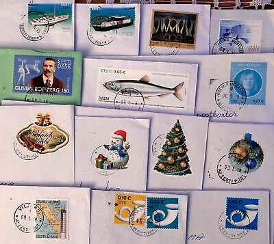 Estonia: Different 2017 Stamps On Letters, Sent January 2018
