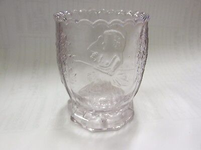 Antique 1905 US Glass Sun Purple NURSERY TALES Rhymes Pressed Glass EAPG