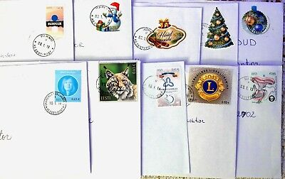 Estonia: Different 2017 Issued Commemoratives On Letters, Sent January 2018