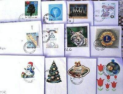 Estonia: Joint Issue With Romania And Other 2017 Stamps On Letters, Sent 2018