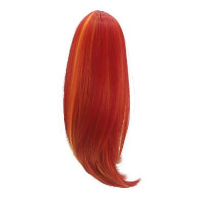 35cm Red Long Hair Replacement Wig for 18inch American Girl Doll Hair Making