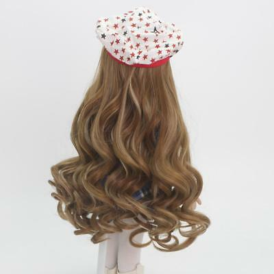 37cm Brown Curly Wig Hairpiece for 18inch American Girl Doll Hair DIY Making