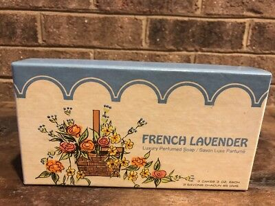 Vintage Ben Rickert Perfumed Soap 3 3 oz Bars French Lavende Unused