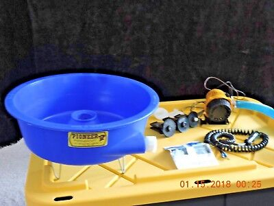 Blue Bowl Concentrator   with Pump and Leg Levelers  Gold Mining Equipment