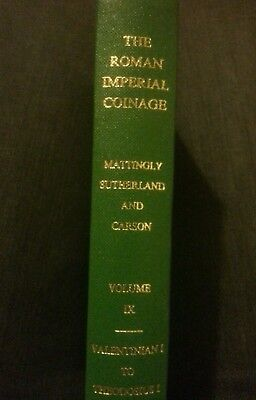 RIC Roman Imperial Coinage VOL9 Valentinian I TO Theodosius RARE CATALOGUE BOOK