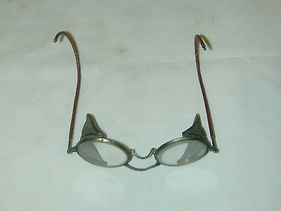 Vintage Willson Safety Glasses with metal mesh side shields Motorcycle Goggles