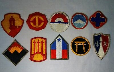 Lot of (10) WW2 WWII Military Uniform Patches World War collectible