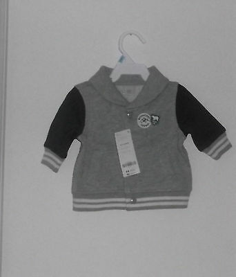 New With Tag  Gymboree Baby Boy Warm Jacket / Sweatshirt Size  0 - 3  Months