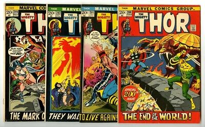 Thor #200,201,203,205 Avg Fine Marvel Comics