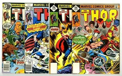 Thor #271,272,275,277 Avg VF+ Marvel Comics