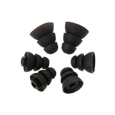 3Pairs S/M/L Three-Layer Silicone Ear Bud Ear Tips Earbuds For In-Ear Earphone