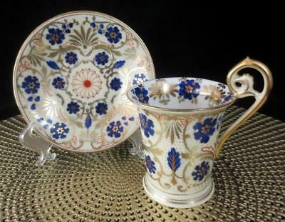 Vintage IMPERIAL VIENNA Austria HAND PAINTED FLORAL CUP & SAUCER