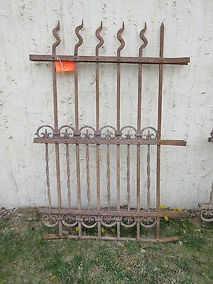 Antique Victorian Iron Gate Window Garden Fence Architectural Salvage Door #315