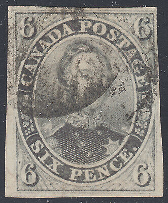 Canada 1855 6d Prince Albert, Scott 5, F-VF used (note), catalogue - $1,200