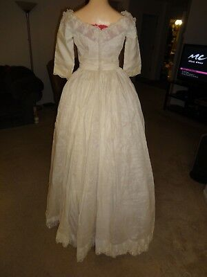 """Vintage Wedding Dress by Cahill Ltd Beverly Hills 30"""" Bust preowned"""
