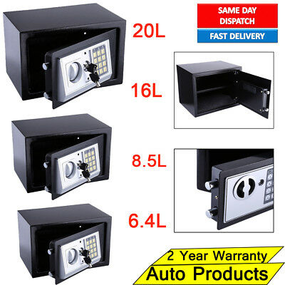 Digital Steel Safe Electronic Security Office Home Money Cash Safety Box 4 Sizes