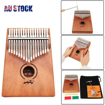 17 Keys Mahogany Finger Kalimba Thumb Piano Wood African Percussion Instrument