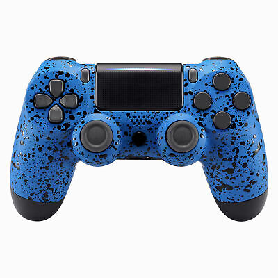 For PS4 Pro Slim Controller Non-slip Repair Faceplates Shell Cover Textured Blue