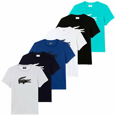 78f38a07 Lacoste Mens Oversized Crocodile Ultra-Dry Comfort Cotton Blend T Shirt