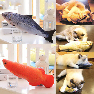 Funny Pet Kitten Cat Fish Shape Mint Chewing Play Catnip Scratch Toy