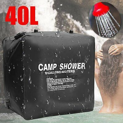 10.6 Gallons 40L Large Portable Solar Camp Heat Outdoor Shower Water Bathe Bag