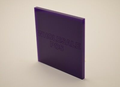 Violet / Purple Coloured Perspex 3mm Acrylic Plastic Sheet Custom Cut Panels