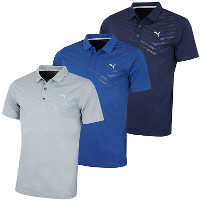 Puma Golf 2016 Mens Short Sleeve Prism Stripe Polo Shirt
