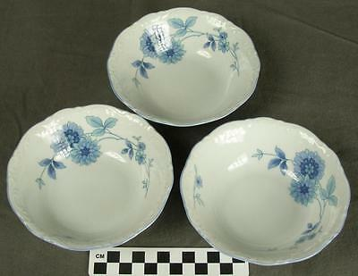 Set 3 Mitterteich Bavaria Germany MIT161 Blue Floral Fine China Berry Bowls (HH)