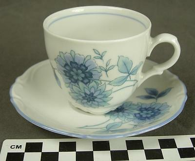 Mitterteich Bavaria Germany MIT161 Blue Floral Fine China Demi Cup Saucer (HH)