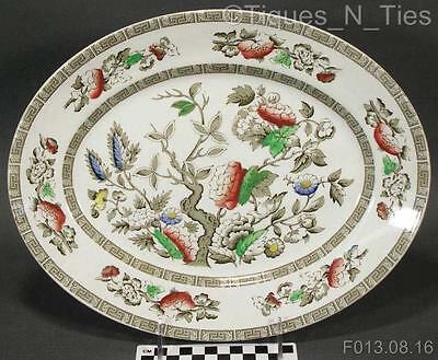 """Vintage Ridgway of Staffordshire England Indian Tree 13"""" Oval Serving Platter FF"""