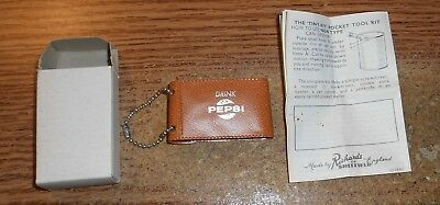 Vintage Richards Of Sheffield Pepsi Advertising Tiny Pocket Tool Kit/in Box/rare
