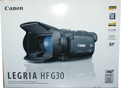 Canon Legria HF G30 HD Camcorder - Schwarz 20-fach opt. Zoom 400-dig Zoom touch