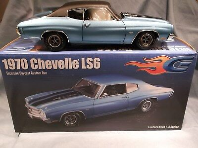 1970 Chevrolet Chevelle Ss 396 Blue Vinyl Top Only 50 Made Guycast 1:18 Acme Car