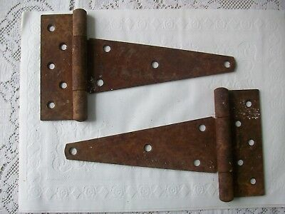Vintage Barn-Shed Large Door Hinges - Steampunk Farm Decor