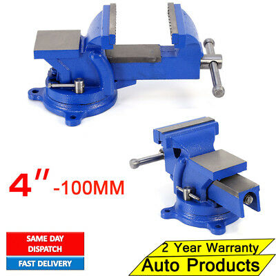 "4"" 100Mm Work Bench Vice Vise Workshop Clamp Engineer Jaw Swivel Base Heavy Duty"