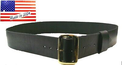 """Belt 3"""" Wide with Buckle All Leather Renaissance Pirate Santa Claus Made in USA"""