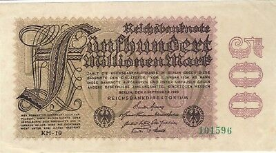 1923 500 Million Mark Germany Currency Reichsbanknote German Banknote Note Bill