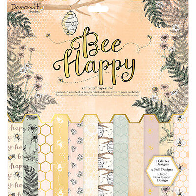 First Edition FSC Paper Pad 12x12 - BEE HAPPY - 36 sheets - DCPAP070