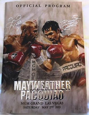 FLOYD MAYWEATHER & MANNY PACQUIAO OFFICIAL BOXING FIGHT PROGRAMME Las Vegas 2015