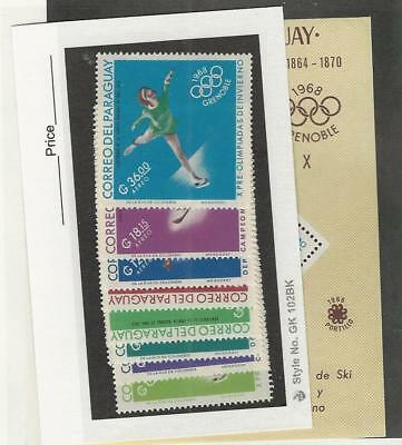 Paraguay, Postage Stamp, #986-993a Mint NH Sheet & Set, 1966 Olympics