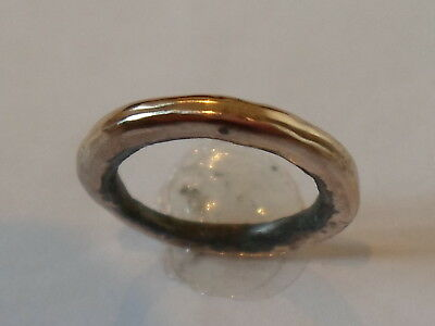 GENUINE & SUPERB 13th-15th CENTURY MEDIEVAL AE WEDDING RING, EXPERTLY POLISHED.