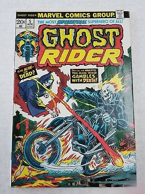 1974 Ghost Rider #5 .20 Cents Story On Ghost Bike