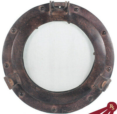 "11"" PORTHOLE WINDOW - Antique Rust Finish - PHOTO FRAME"