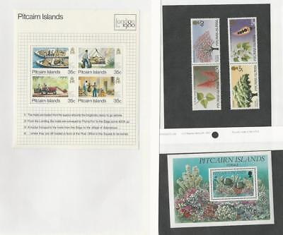 Pitcairn Islands, Postage Stamp, #192, 289-90, 410 Mint NH Sheets, 1980-94