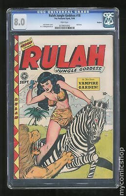 Rulah, Jungle Goddess #18 1948 CGC 8.0 Okajima 0238605002