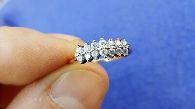 Old Vintage Estate Jewelry Solid 10K Karat Yellow Gold CZ Cluster Ring Size 6.5