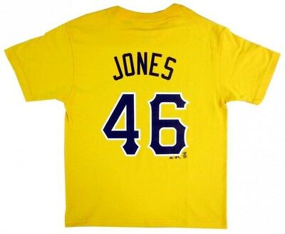 Garrett Jones Pittsburgh Pirates MLB Majestic Youth Gold Name & Number T-Shirt